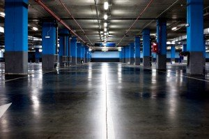 concrete floor scrubbing